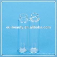 Mini perfume frasco de vidro vazio com tampa de plástico