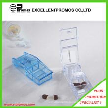 Caja de plástico de la píldora con el cortador para la promoción (EP-P412909)