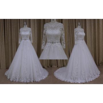Robes de mariée vintage avec des appliques