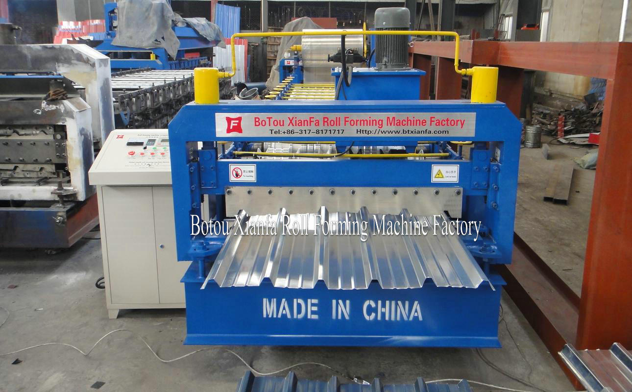 roofing aluminum machine