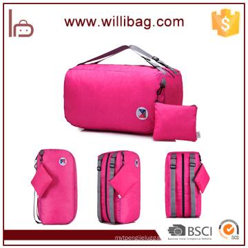 Multifunctional Shoulder And Backpack Used Foldable Travel Storage Bag