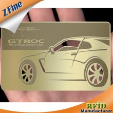 Wonderful!!!Silver/gold/golden metal business card/silver metal card/silver card in ShenZhen