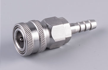 Stainless Automatic Quick Coupler Socket Barb