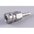 Stainless Automatic quick coupler socket 12mm barb