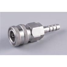 Stainless Automatic quick coupler socket 8mm barb