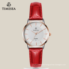 Women′s Quartz Watch with Rose Plating in Casual Style 71009