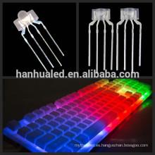Pezón 2 * 3 * 8mm led diodo RGB componentes led para teclado