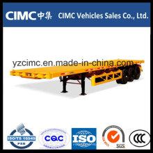 Semirremolque de plataforma baja de contenedores Cimc 40FT