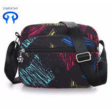 New colored nylon fabric single shoulder bag