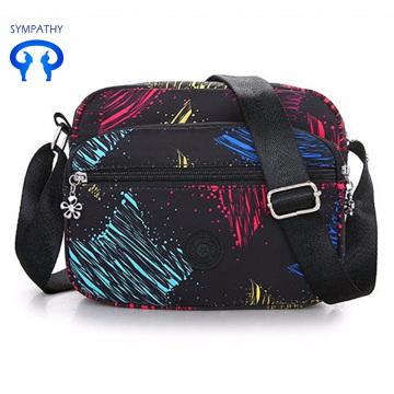 New colored nylon fabric single shoulder bag