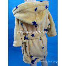Jaune bleu Star imprimé Polyester Coral fleece dormir porter