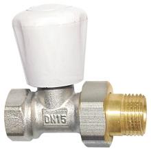 Латунный радиаторный клапан с ручкой (a. 0156)