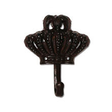 Solid crown shape of cast iron hook