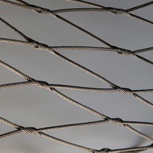 ferruled type stainless steel rope mesh net