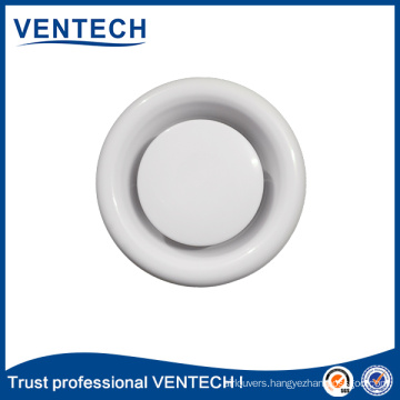 Metal and Plastic Air Disc Valve for HVAC Ceiling Toilet