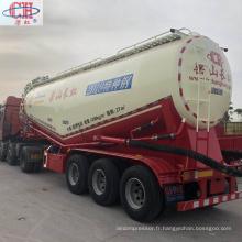 Remorque de silo de réservoir en vrac de compresseur d'air à trois essieux