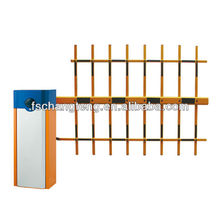 barrier gate with 3 fence arm and manual release
