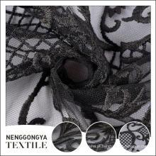 Oem barato Confortável partido bordado cortina de tecido