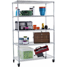 Chrome Restaurant Metal Kitchen Wire Shelving Rack
