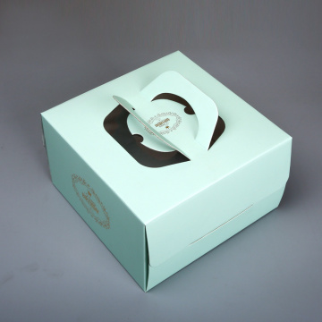 8inch Handle Cake Box dengan Clear Window