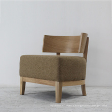 Modern Design Furniture Solid Wood Chair with Soft Fabric