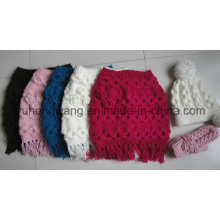 New Style Lady Winter Warm Knitted Acrylic Set