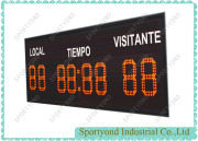 Ηλεκτρονική ψηφιακή LED πίνακα αποτελεσμάτων για το ποδόσφαιρο / ράγκμπι