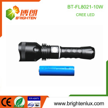 Factory Wholesale Aluminium multifonction 1 * 18650 La plus puissante 10W Long Range Distance led Rechargeable Flashlight Cree USB