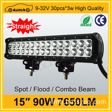 High intensity dual row led hanging light bar 90w