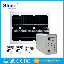 Preço barato novo design móvel off-grid casa sistema de iluminação de energia solar para geração de eletricidade