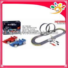 1 43 electric kids toy race track long track toy car with hand generator