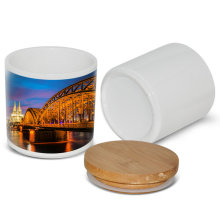 New Sealed jar wholesale ceramic blank sublimation seal pot