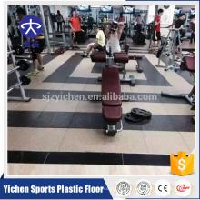Yichen alfombra de goma no tóxica e insípida para gimnasio