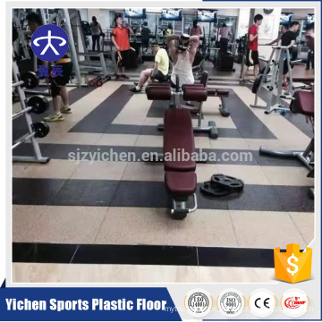 Yichen non-toxic and tasteless rubber floor mat for gym