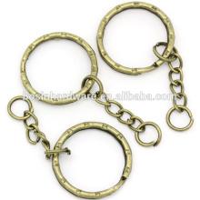 Мода Высокое качество металла антикварные латунные узорные брелок с цепочкой