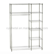 Chrome Wire Shelving for Closet or Wardrobe