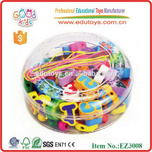 Kids Play Wooden Number Beads Toys with String