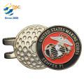 Marque faite sur commande de boule de chapeau d'aimant de boule de golf en métal faite sur commande de métal de logo de logo