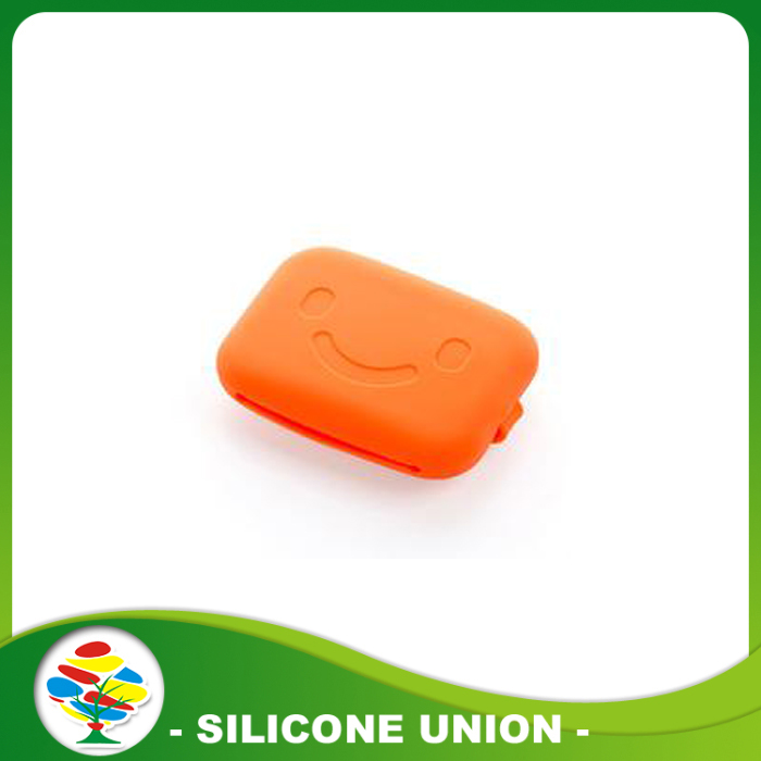 orange silicone zero wallet