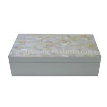 Produto de hotel de concha de água doce material de caixa de jóias branco