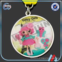 Medalha de desenhos animados bonitos das meninas brilhantes