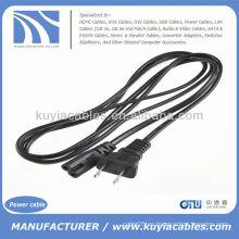 USA 2 Prong Port Ac Adaptador de corriente Cable Cable para Laptop PC VCR Ps2 Ps3 Slim