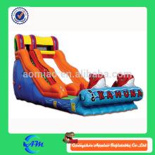 Novo estilo golfinho inflável slide slide inflável para venda