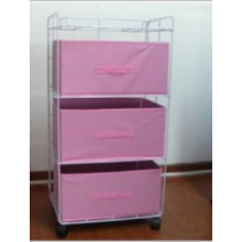 Folding Storage Rack with 3 Drawers