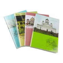 Diário e diário personalizados com capa de jaqueta de PVC