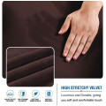 Velvet Stretch L-Shaped Thick Sofa Sectional Couch Cover 4 Seats Fleece Stretch Sofa Covers