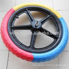 Roda de plástico de 16 polegadas roda de bicicleta de 5 raio