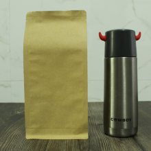 1000g flat bottom side gusset kraft paper bag without zipper