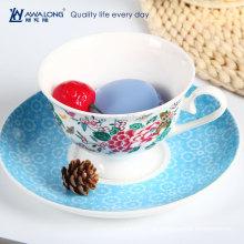 Grande capacidade de osso china xícara de café e pires cerâmica copos de chá