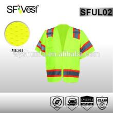 2015 productos nuevos productos de seguridad de tráfico x chaleco de seguridad reflectante trasero amarillo chaleco de seguridad ansi